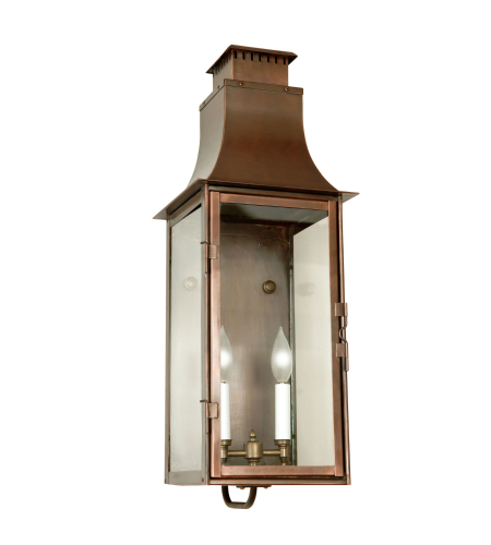 Fourteenth Colony LMG-2-AC-CLR 2-60w Candles Clear Glass Wall Mount in Antique Copper