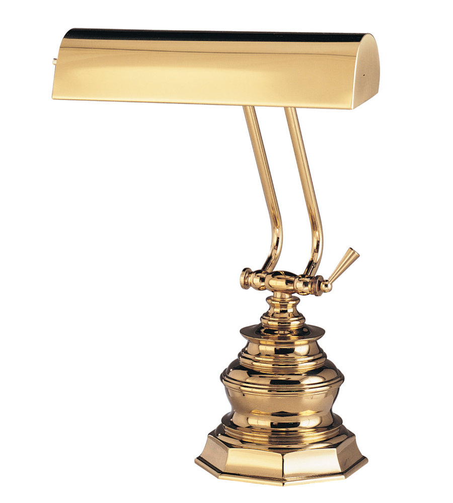 house of troy p10 111 1 light desk piano lamp 10 in polished brass in. Black Bedroom Furniture Sets. Home Design Ideas