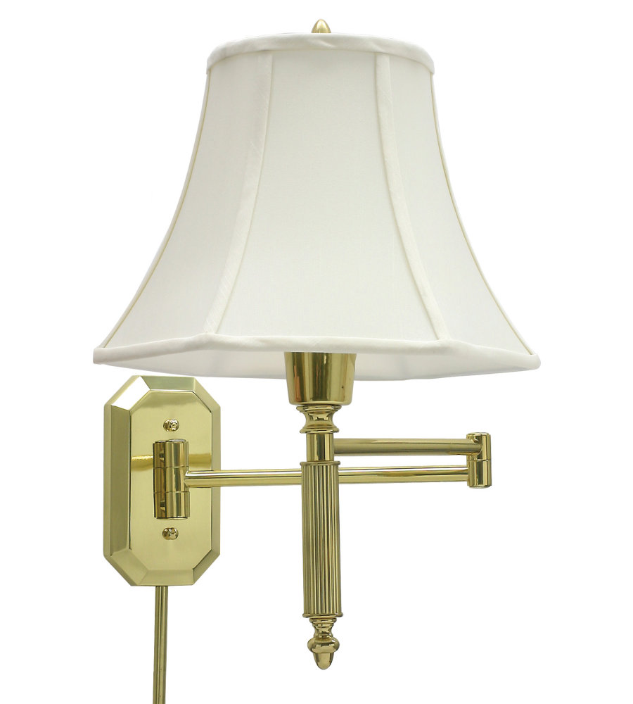 house of troy ws 706 1 light wall swing arm lamp in polished brass in polished brass. Black Bedroom Furniture Sets. Home Design Ideas