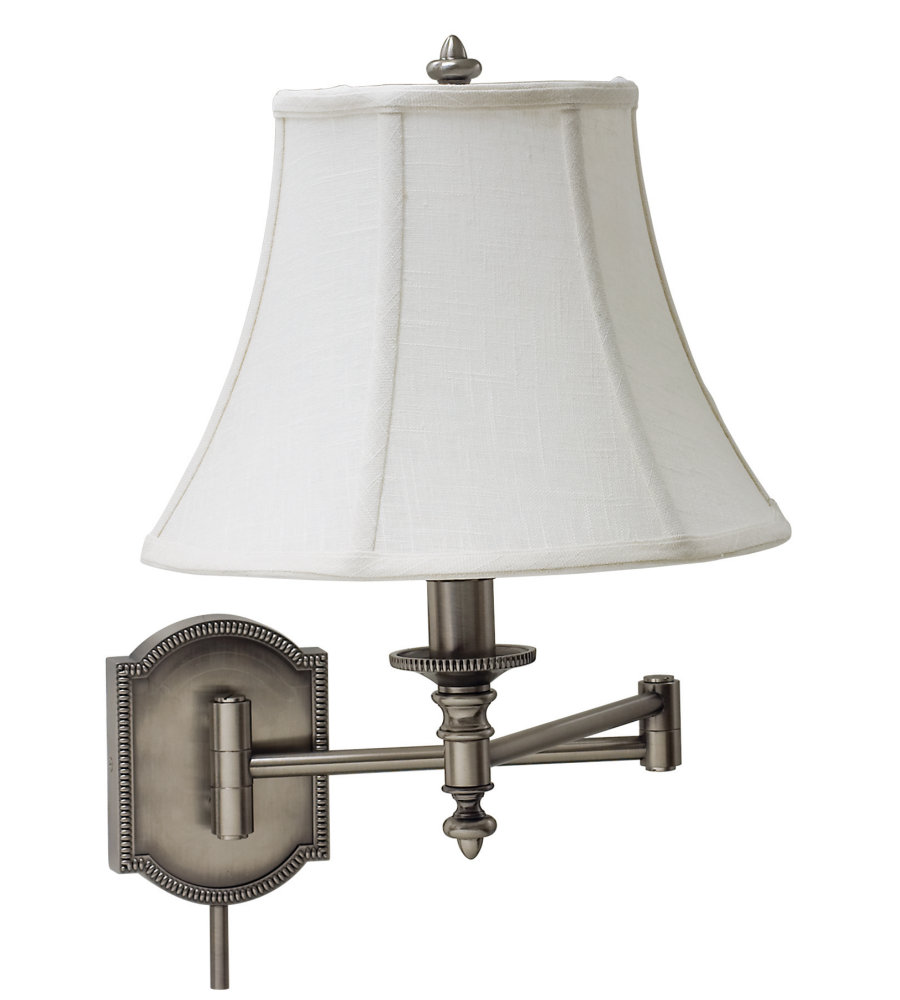 Francis Wall Lamp Antique Silver : House Of Troy Ws761-As 1 Light Wall Swing Arm Lamp In Antique Silver In Antique Silver ...