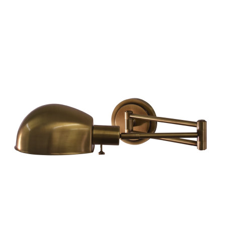 House Of Troy Ad425-Ab 1 Light Addison Antique Brass Pharmacy Wall Swing Arm Lamp In Antique Brass