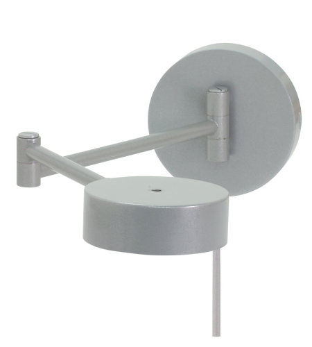 House Of Troy G475-Pg 1 Light Generation Swing Arm Wall Led Lamp In Platinum Gray In Platinum Gray