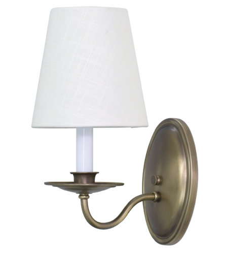 House Of Troy Ls217-Ab 1 Light Lake Shore Wall Sconce Antique Brass In Antique Brass