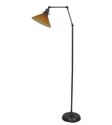 House Of Troy Ot600-Ob-Am 1 Light Otis Industrial Floor Lamp In Oil Rubbed Bronze