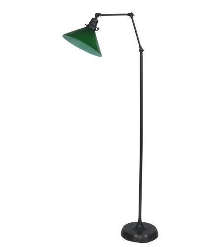 House Of Troy Ot600-Ob-Gr 1 Light Otis Industrial Floor Lamp In Oil Rubbed Bronze