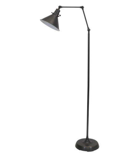 House Of Troy Ot600-Ob-Ms 1 Light Otis Industrial Floor Lamp In Oil Rubbed Bronze
