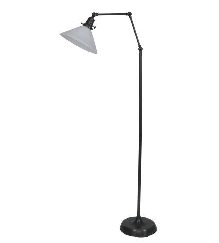 House Of Troy Ot600-Ob-Wt 1 Light Otis Industrial Floor Lamp In Oil Rubbed Bronze