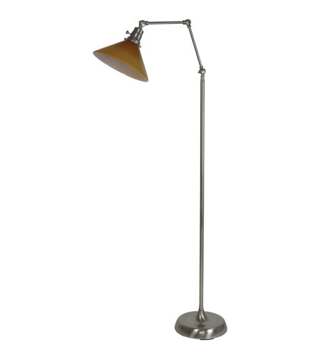 House Of Troy Ot600-Sn-Am 1 Light Otis Industrial Floor Lamp In Satin Nickel