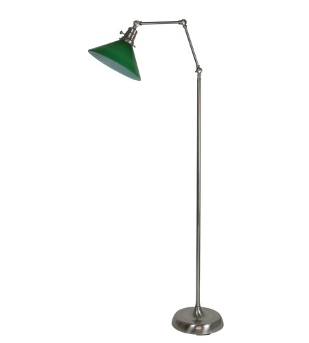 House Of Troy Ot600-Sn-Gr 1 Light Otis Industrial Floor Lamp In Satin Nickel