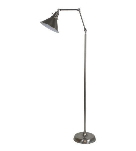 House Of Troy Ot600-Sn-Ms 1 Light Otis Industrial Floor Lamp In Satin Nickel