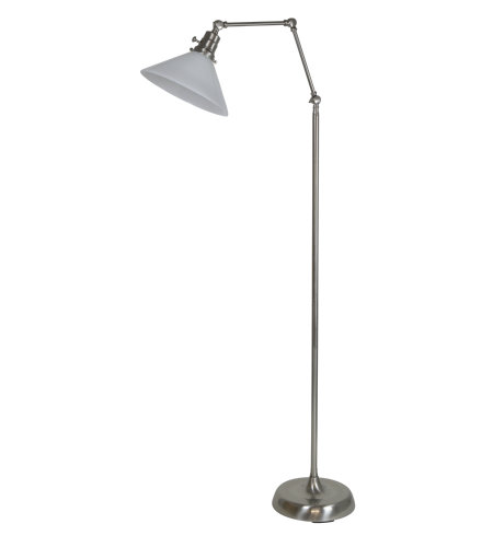 House Of Troy Ot600-Sn-Wt 1 Light Otis Industrial Floor Lamp In Satin Nickel