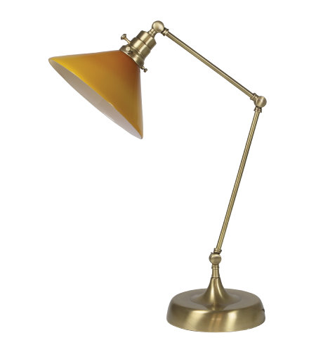 House Of Troy Ot650-Ab-Am 1 Light Otis Industrial Table Lamp In Antique Brass
