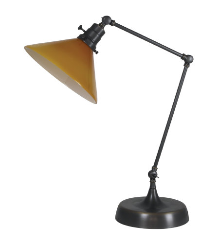 House Of Troy Ot650-Ob-Am 1 Light Otis Industrial Table Lamp In Oil Rubbed Bronze