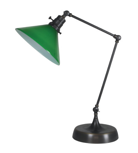 House Of Troy Ot650-Ob-Gr 1 Light Otis Industrial Table Lamp In Oil Rubbed Bronze