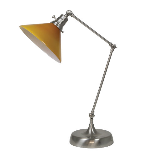 House Of Troy Ot650-Sn-Am 1 Light Otis Industrial Table Lamp In Satin Nickel