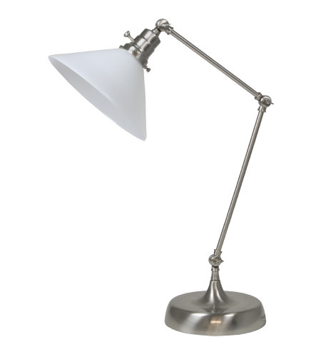 House Of Troy Ot650-Sn-Wt 1 Light Otis Industrial Table Lamp In Satin Nickel