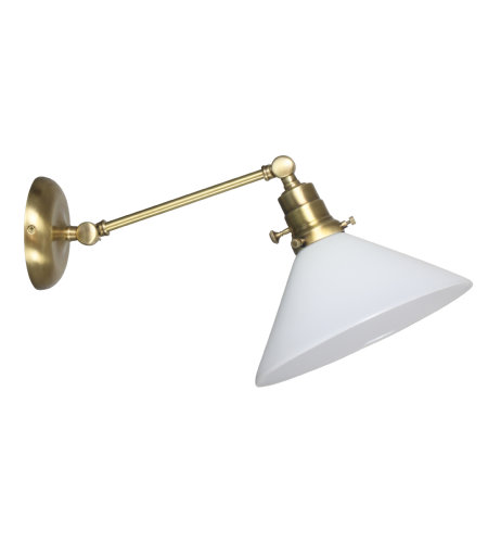 House Of Troy Ot675-Ab-Wt 1 Light Otis Industrial Wall Lamp-Direct Wire Only In Antique Brass