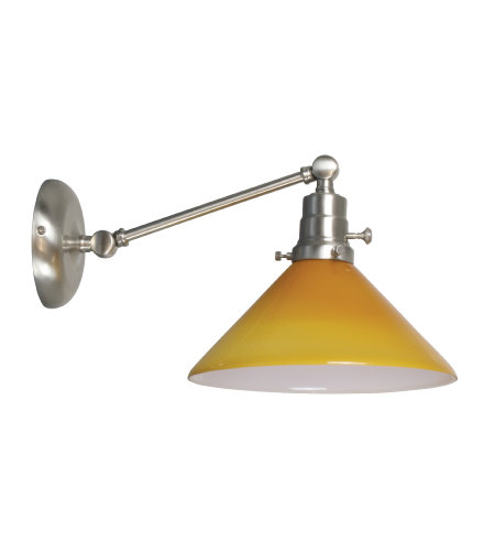 House Of Troy Ot675-Sn-Am 1 Light Otis Industrial Wall Lamp-Direct Wire Only In Satin Nickel