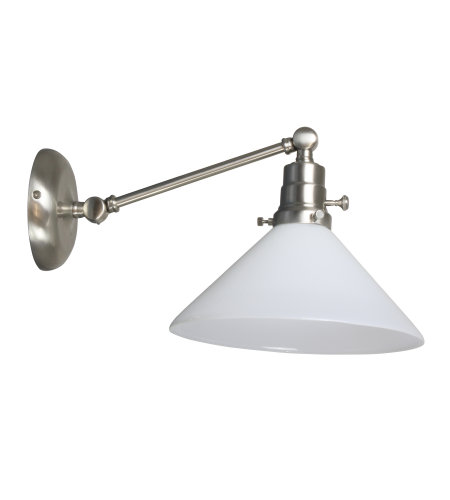 House Of Troy Ot675-Sn-Wt 1 Light Otis Industrial Wall Lamp-Direct Wire Only In Satin Nickel