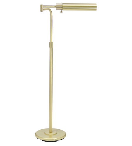House Of Troy Ph100-51-F 1 Light Home/Office Satin Brass Floor Lamp In Satin Brass