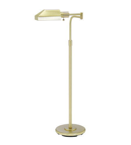 House Of Troy Ph100-51-J 1 Light Home/Office Satin Brass Floor Lamp In Satin Brass