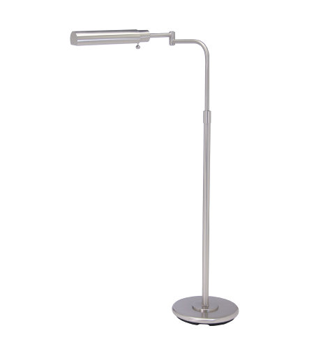 House Of Troy Ph100-52-F 1 Light Home/Office Satin Nickel Floor Lamp In Satin Nickel