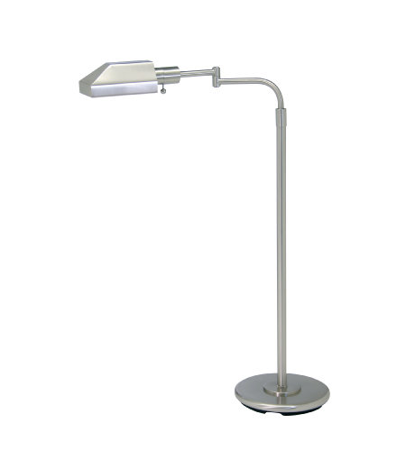 House Of Troy Ph100-52-J 1 Light Home/Office Satin Nickel Floor Lamp In Satin Nickel