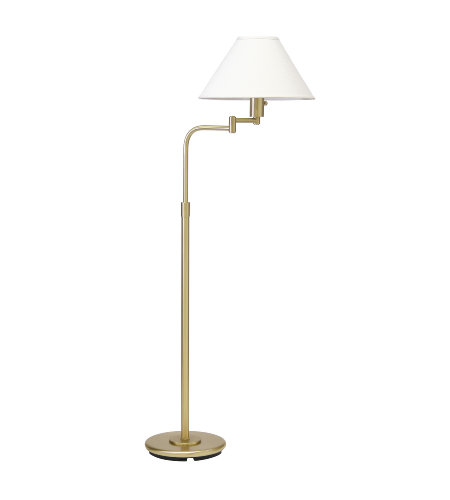 House Of Troy Ph101-51 1 Light Home/Office Satin Brass/Linen Hardback In Satin Brass