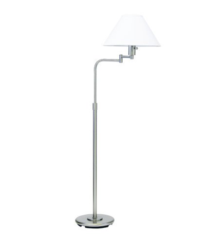 House Of Troy Ph101-52 1 Light Home/Office Satin Nickel/White Hardback In Satin Nickel