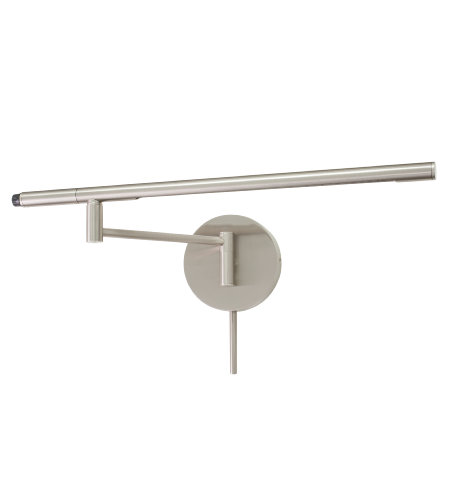 House Of Troy Sled525-Sn 1 Light Slim-Line Led Task Wall Lamp In Satin Nickel In Satin Nickel