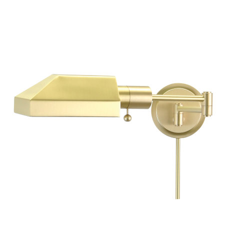 House Of Troy Ws12-51-J 1 Light Home/Office Wall Swing Satin Brass In Satin Brass