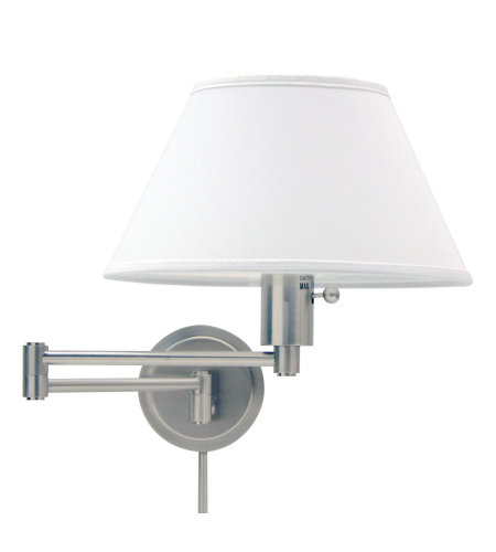 House Of Troy Ws14-52 1 Light Home/Office Wall Swing Satin Nickel In Satin Nickel