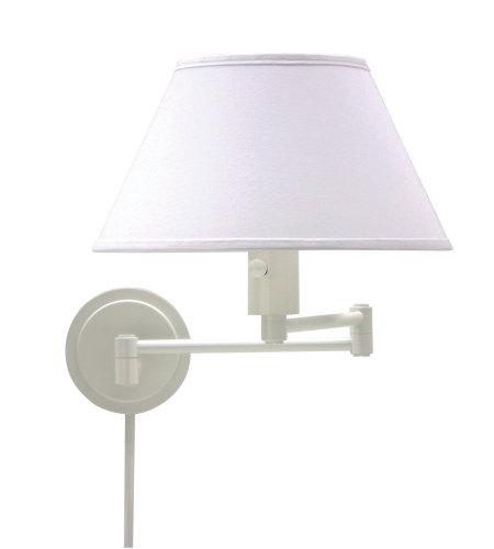 House Of Troy Ws14-9 1 Light Home/Office Wall Swing White In White