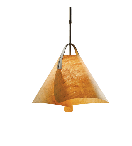 Hubbardton Forge 134501-Skt-Long-03-Sg1992 1 Light Mobius Small Pendant In Mahogany