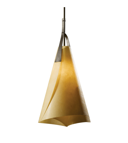 Hubbardton Forge 134505-Skt-Long-03-Sg1991 1 Light Mobius Tall Pendant In Mahogany