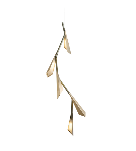 Hubbardton Forge 135001-Led-Stnd-01 Light Quill Led Pendant In Gloss White