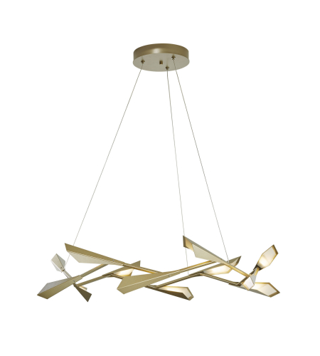Hubbardton Forge 135005-Led-Stnd-82 Light Quill Large Led Pendant In Vintage Platinum