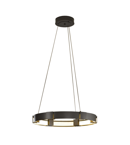 Hubbardton Forge 138587-Led-Stnd-03-Zm0399 Light Aura Led Pendant Clear Glass In Mahogany