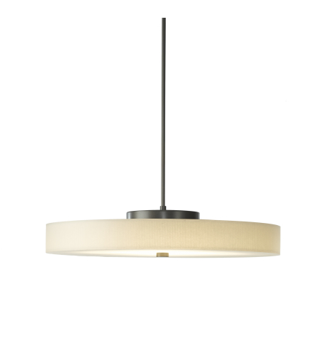 Hubbardton Forge 139713-Led-Long-01-Sg1970 Light Disq Large Led Pendant In Gloss White