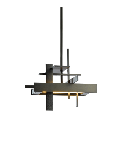 Hubbardton Forge 139718-Led-Long-03 Light Planar Small Led Pendant In Mahogany