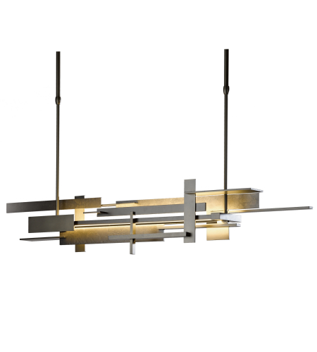 Hubbardton Forge 139720-Led-Long-03 Light Planar Large Led Pendant In Mahogany