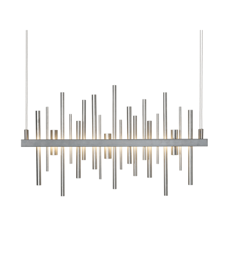 Hubbardton Forge 139725-Led-Stnd-03 Light Cityscape Vintage Platinum Led Pendant In Mahogany