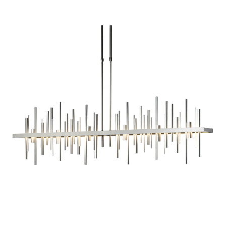 Hubbardton Forge 139726-Led-Long-03 Light Cityscape Large Vintage Platinum Led Pendant In Mahogany