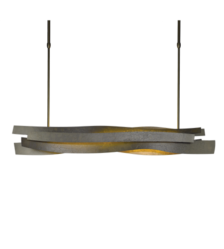 Hubbardton Forge 139727-Led-Long-03 Light Landscape Led Pendant In Mahogany