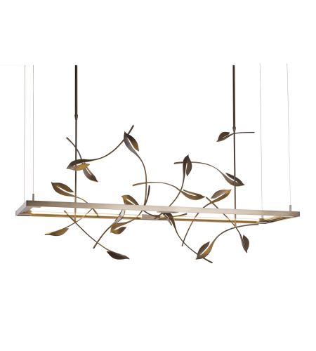 Hubbardton Forge 139755-Led-Long-03 Light Autumn Led Pendant In Mahogany