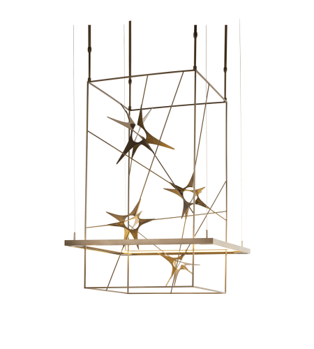 Hubbardton Forge 139765-Led-Long-03 Light Kairos Led Pendant In Mahogany