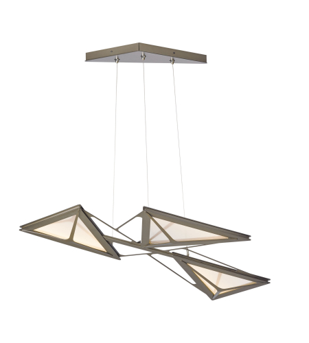 Hubbardton Forge 139830-Led-Stnd-03 Light Vitrage Led Pendant In Mahogany