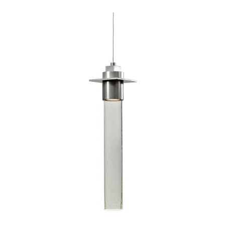 Hubbardton Forge 161020-Skt-Stnd-82-Ii0254 1 Light Airis Low Voltage Mini Pendant Seeded Clear Glass In Vintage Platinum