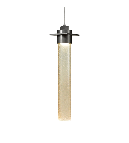 Hubbardton Forge 161025-Skt-Stnd-82-Ii0268 1 Light Airis Large Low Voltage Mini Pendant Seeded Clear Glass In Vintage Platinum