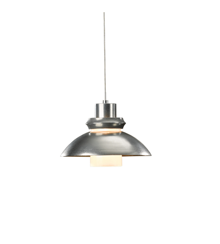 Hubbardton Forge 161090-Skt-Stnd-82-Yc0340 1 Light Staccato Low Voltage Mini Pendant Cast Glass Glass In Vintage Platinum